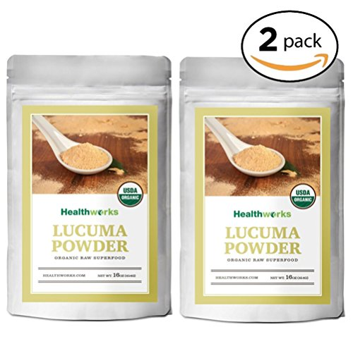 Healthworks Lucuma Powder Raw Organic, 2lb (2 1lb Packs) by Healthworks