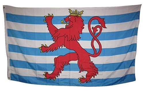 - ALBATROS 3 ft x 5 ft Luxembourg Germany German City Lion Royal Rough Tex Knitted Flag for Home and Parades, Official Party, All Weather Indoors Outdoors