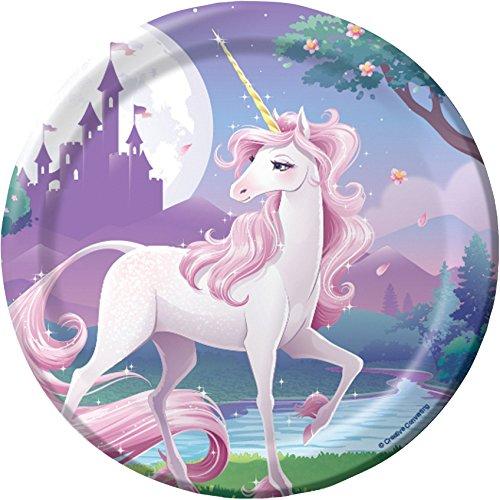 Unicorn Fantasy Party Dessert Plates