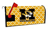 MISSOURI TIGERS MAILBOX COVER-UNIVERSITY OF MISSOURI MAGNETIC MAIL BOX COVER-MOROCCAN DESIGN