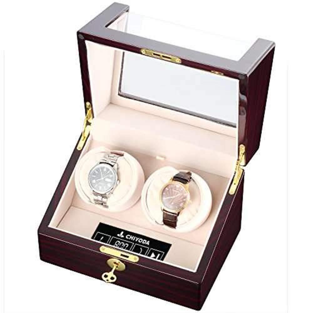 CHIYODA Dual Automatic Watch Winder with Double Quiet Mabuchi Motors