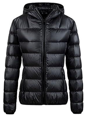 Wantdo Women's Hooded Packable Ultra Light Weight Insulated Down Jacket