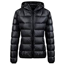 Wantdo Womens Hooded Ultra Light Weight Short Down Jacket