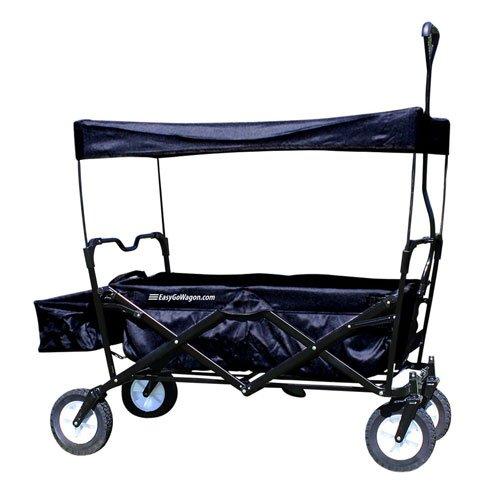 EasyGoWagon Folding/Collapsible Utility Wagon, Black