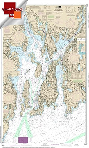 Paradise Cay Publications NOAA Chart 13221: Narragansett Bay 21.00 x 34.45 (SMALL FORMAT WATERPROOF)