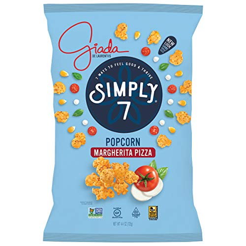 Simply 7 with Giada Popcorn, Margherita Pizza, 4.4 Ounce (Pack of 12), Packaging May Vary