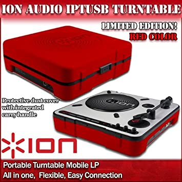 Ion -Mobile LP - Tocadiscos portátil (altavoz integrado, USB ...