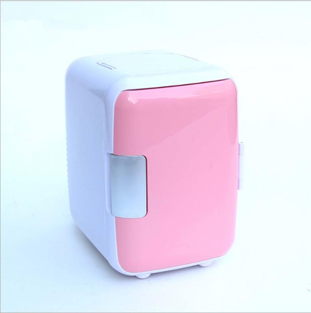 DSHBB Car Fridge Mini,car Fridge Freeze , Travel, Picnic, Camping Outdoor Use (Color : Pink)