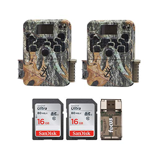 (2) Browning Trail Cameras Strike Force Extreme 16 MP Game Camera + 16GB SD Card + Focus USB Reader Bundle (Game Camera Strike Force)