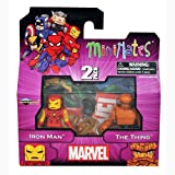 DIAMOND SELECT TOYS MiniMates: Marvel Best Series 1 Iron Man Thing Mini Figure 2-pack