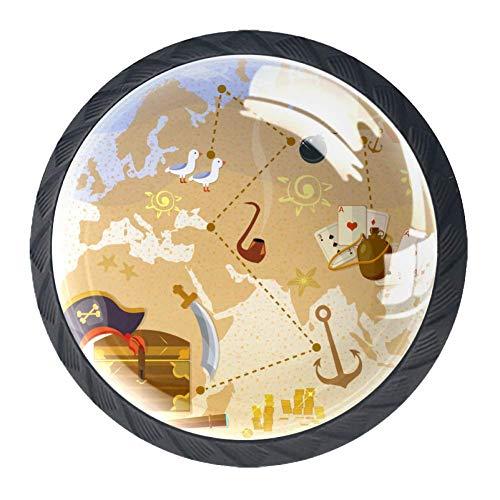 Treasure Fig. 12 Drawer Handle 3 Dimension Display for wardrabe Cupboard Closet Cabinet knob to Decorate Kidsroom ()
