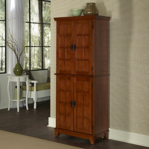 Home Styles Arts and Crafts Cottage Pantry Cabinet, Oak