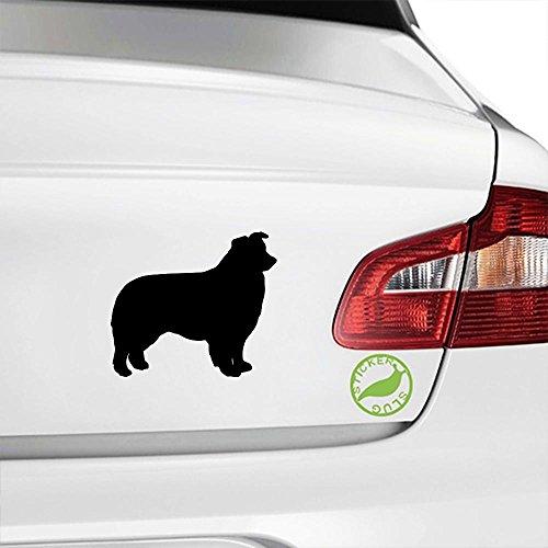 Border Collie Dog Decal Sticker (black, 5 inch, - Collie Dog Sticker
