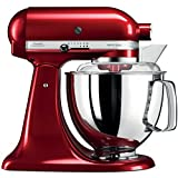 KitchenAid Artisan 5KSM175PSECA 5 Qt.Stand Mixer Candy Apple with TWO Bowls & Flex Edge Beater 220 VOLTS NOT FOR USA Review