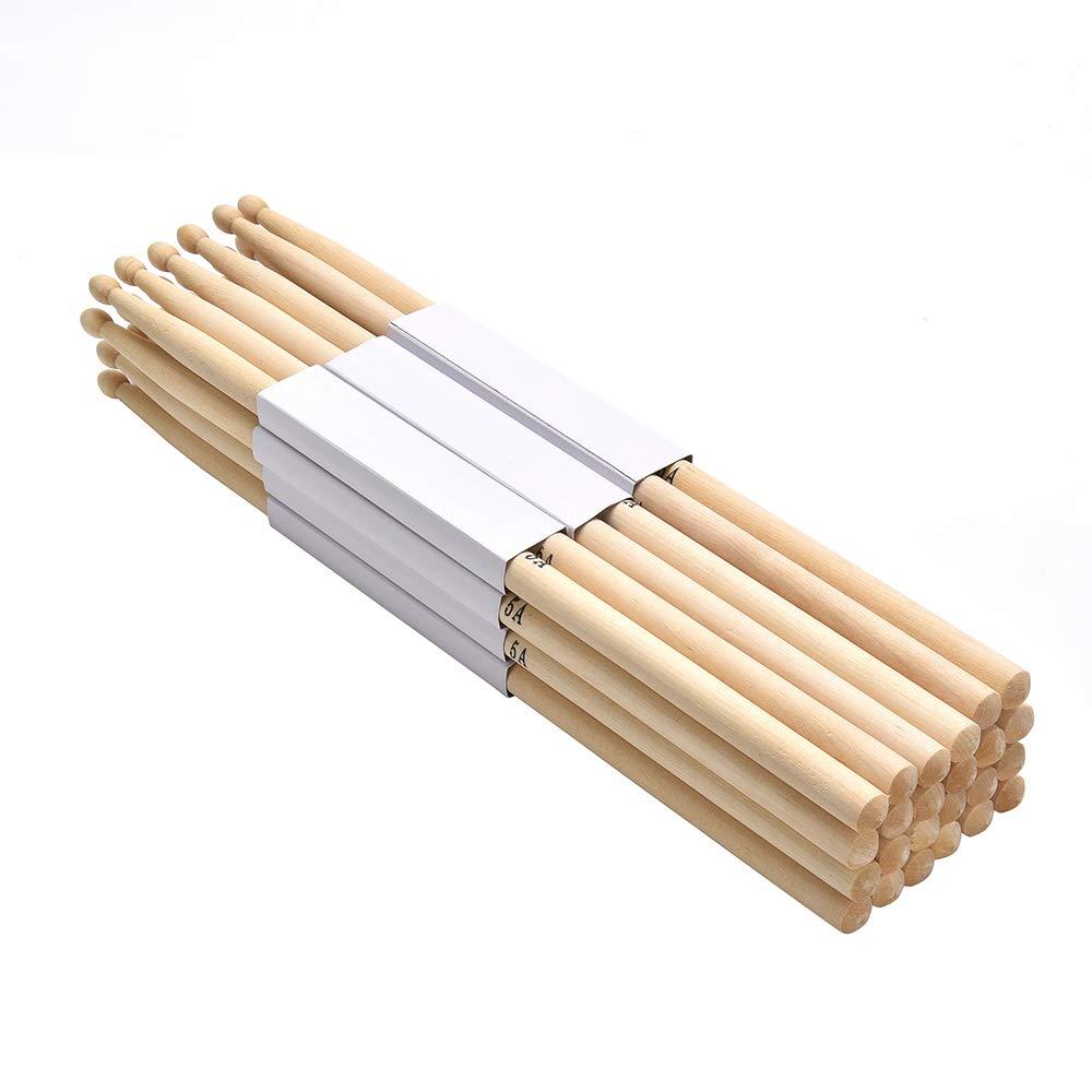 FF Elaine Maple 5A Wood Tip Drumsticks 12 Pairs - Music