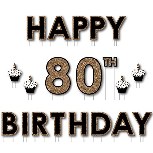 Big Dot of Happiness Adult 80th Birthday -