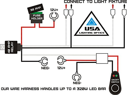 51XXocdBJFL amazon com 1 fog light 40 amp universal wiring harness for off Aux Wire for Car at honlapkeszites.co