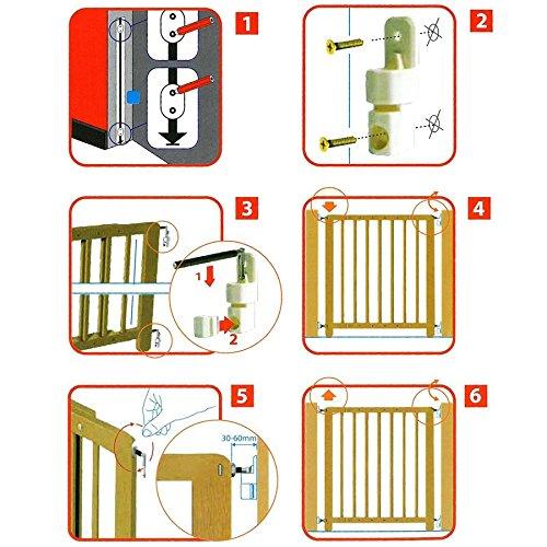 Kinder-Sicherheitsgitter Treppengitter T/ürschutzgitter Absperrgitter Holz natur