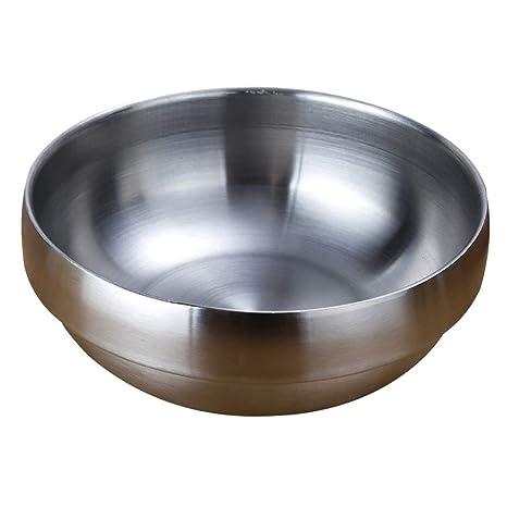Danigrefinb - Cuenco de acero inoxidable de doble capa con ...
