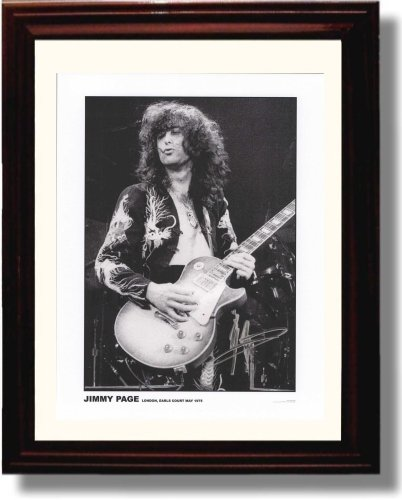 Framed Jimmy Page Autograph Replica (Music Signed Autograph)