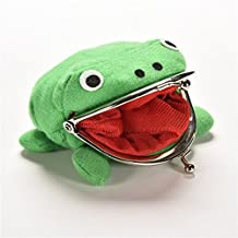 Cute Green Frog Coin Bag Cosplay Props Plush Toy Purse Wallet Funny Gift (Green)