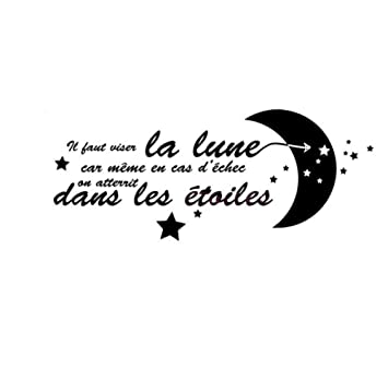 Amazon Com Rongan French Citation Il Faut Toujours Viser La