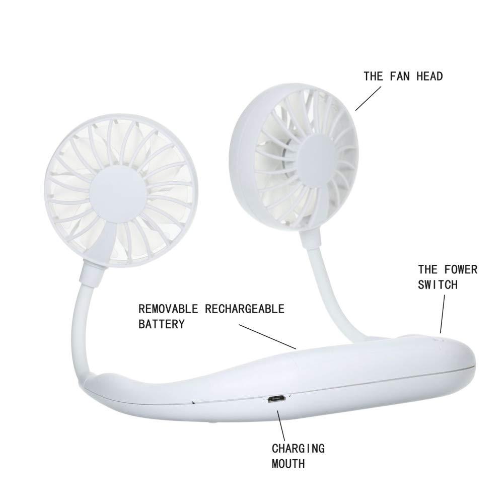 Balai Ventilatori a Doppio Collo Portatili a Mano Ricaricabili Portatili Ricaricabili Senza ventole