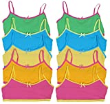 'Sweet & Sassy Girls' 10 Pack Cotton and Spandex Crop Training Bra, Assortment 1' M 10/12