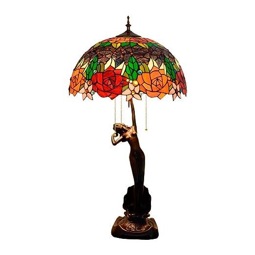 QCKDQ 40 Cm lámpara de Mesa, lámpara de Mesa Estilo Tiffany con ...