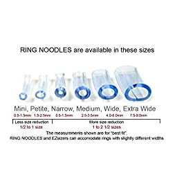 RING NOODLE (6 pack) Ring Guard, Ring Size Adjuster (Narrow/Medium/Wide)
