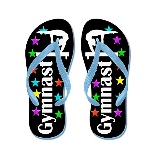 CafePress Gymnast Champ - Flip Flops, Funny Thong Sandals, Beach Sandals Caribbean Blue