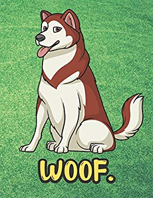 Woof White Brown Husky Malamute Dog Notebook With Green Grass Background Design And Barking Noise Cover Perfect Journal For Pet And Dog Lovers Of All Ages Publishing Joanna H Peterson Amazon Ae Weitere ideen zu wolf hunde, wolfshund, hundebabys. amazon ae