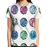 ipad 3 gem cases - WuLion Set of Round Oval Gems Diamonds Emerald Supreme Sublime Worth World Women's 3D Print T Shirt L White