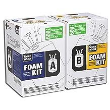 Two-Component Class I Fire Retardant Slow Rise Polyurethane Spray Foam Insulation Kit 600 Board Feet FK-600-SR, 1.75 PCF