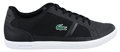Lacoste Strideur 116 Mens Black Leather Lace up Sneakers Shoes 7