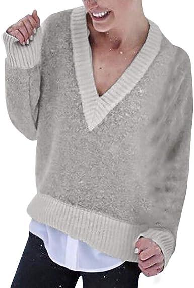 Jerseys Mujer Blusa Elegante Mujer Blusa de Manga Larga para ...