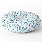 Society6 School Chemical Pattern #2 Floor Pillow Round 30'' x 30''