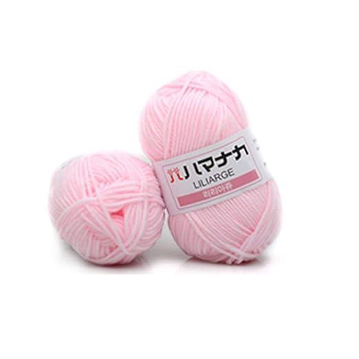BFHCVDF 4 acciones Leche peinada Hilo de algodón Hilado de Lana ...