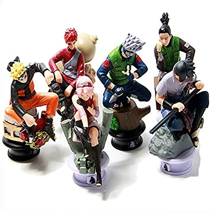 Amazon.com: VIETCJ 6pcs/lot Naruto 8cm Chess Action Figure ...