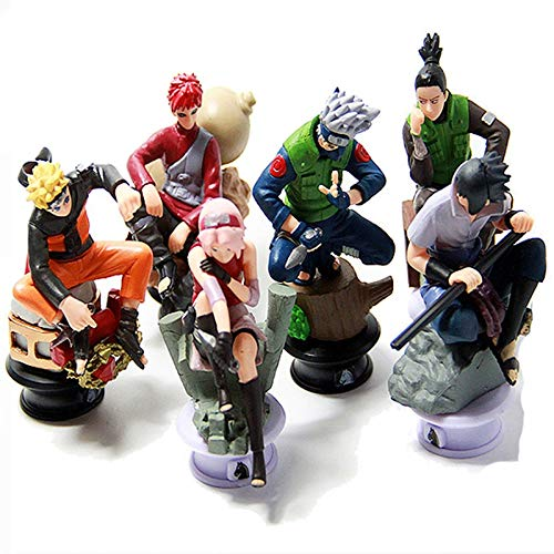 Psp Chess Set - VIETCJ 6Pcs/Lot 8Cm Chess Action Figure New Sasuke Ninja Model Toy- Legends Gifts Movies Comic Toys Collection