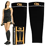 Top Calf Compression Sleeve Men Women, Perfect for Running, Training, Travel, Cycling, Hiking, Relieves Lower Leg Pain, Shin Splint, Best for Recovery