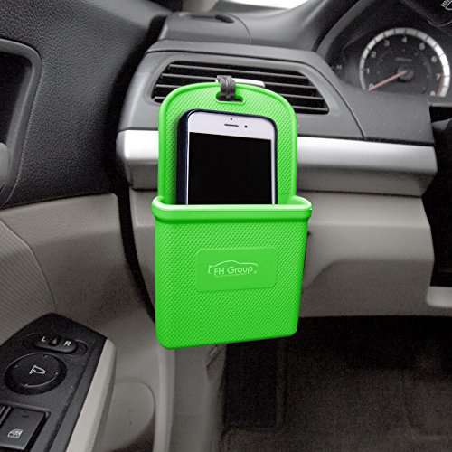 Green Sedan - FH Group FH3022GREEN Green Silicone Car Vent Mounted Phone Holder (Smartphone works with IPhone Plus Galaxy Note Green Color)