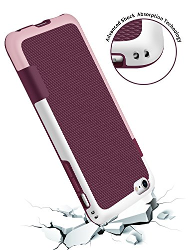 iPhone 6S Case, GOSHELL Hybrid Impact 3 Color Bumper Case Shock-Absorption Anti-Scratch Durable Rugged Protective Front Raised Lip Soft TPU & Hard PC Cover for Apple iPhone 6/6s(4.7-Inch) - Wine Red
