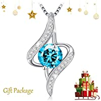 "J.Rosée Snowflake Pendant Necklace for Women Girl 925 Sterling Silver 💝Christmas Special Offer💝 Romantic Jewellery""Dancing Snowflake"", 18""+2"" Extender"