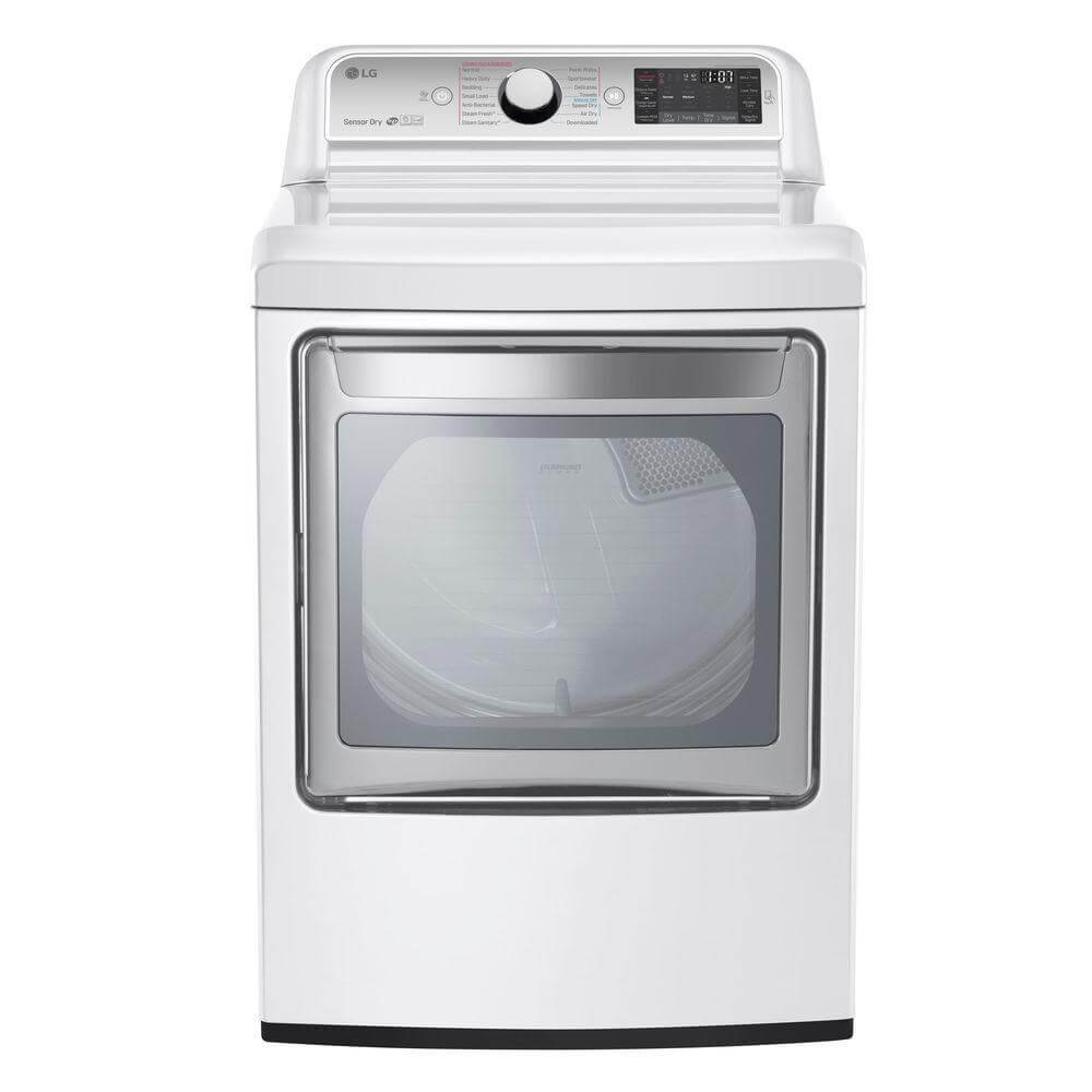 LG DLGX7601WE 27' Gas Dryer with 7.3 cu. ft. Capacity, in White