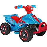6 Volt Battery Operated Electric Powered 4 Wheels ATV Quad Ride on Toys for Kids, Blue - Includes Charger
