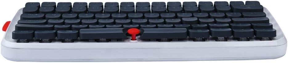 Windows Android HELLOLAND Ajazz Vintage RGB Mechanical Keyboard Retro Dual-Mode BT//USB Wired Keyboard for Mac Black Blue Switch Black