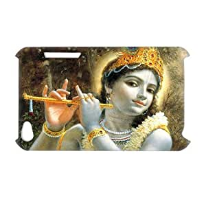 3D Print Hot Design Hinduism Lord Krishna Background Case Cover for iPod Touch 4 - Personalized Hard Back Protective Case Shell-Perfect as gift