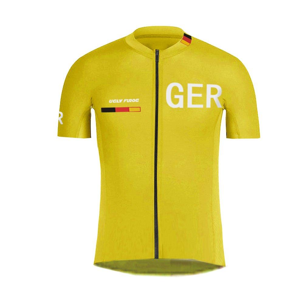 Uglyfrog Deutschland Radtrikot//Radhose mit Sitzpolster//MTB Downhill Jersey//Skinsuit Kurzarm und Langarm Fahrradbekleidung Radsport Team GQZ02