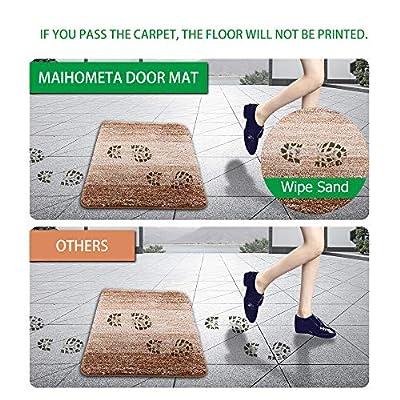"Front Door Mat Indoor Doormat, Super Absorbent Mud Entrance Mat (31.5""x19.7""), Magic Non Slip Welcome Mats, Durable Machine Washable Entry Rug Dirt Trapper InsideCarpetfor Kitchen Bathroom (Brown)"